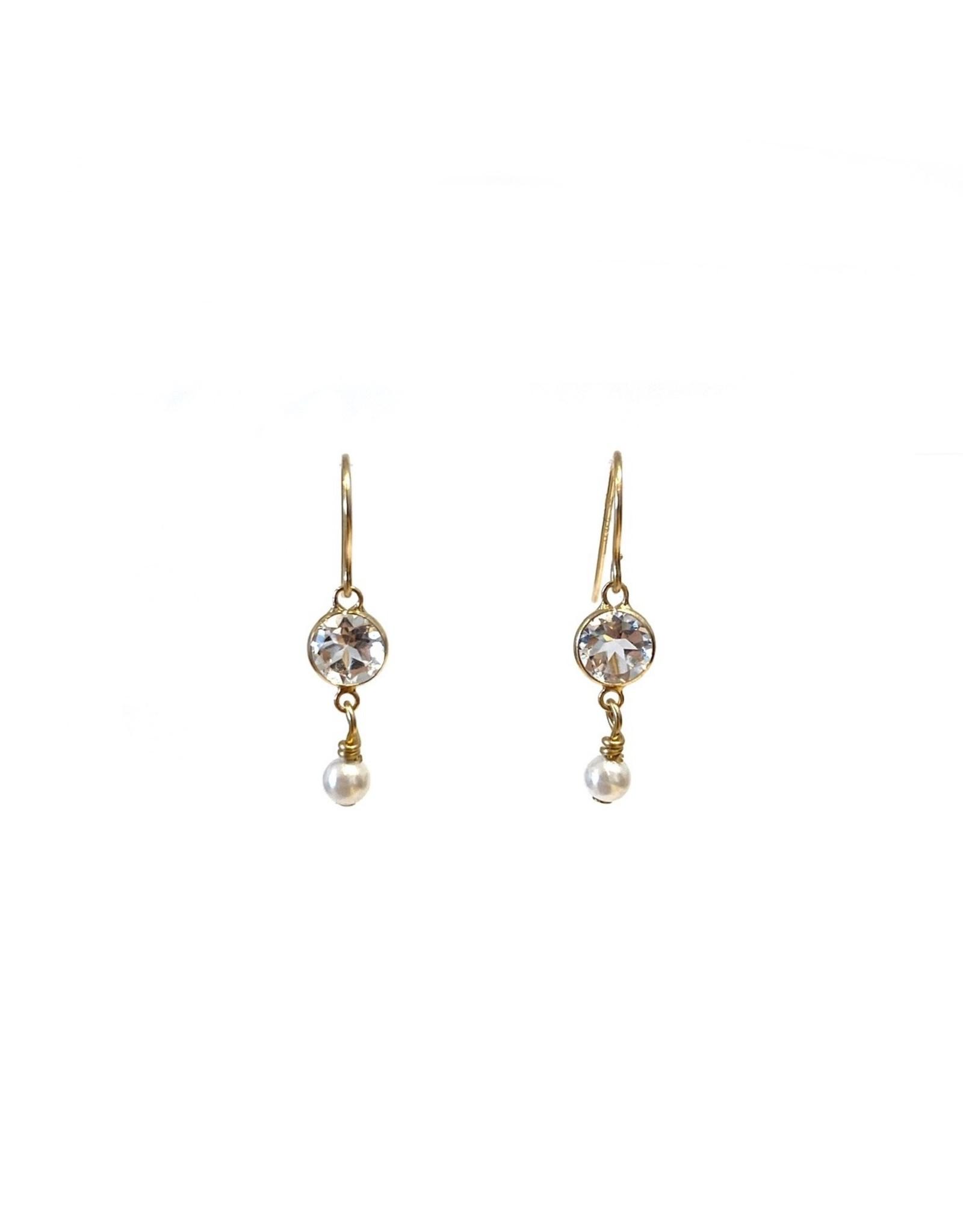 Bo Gold Earrings - Gold - Crystal