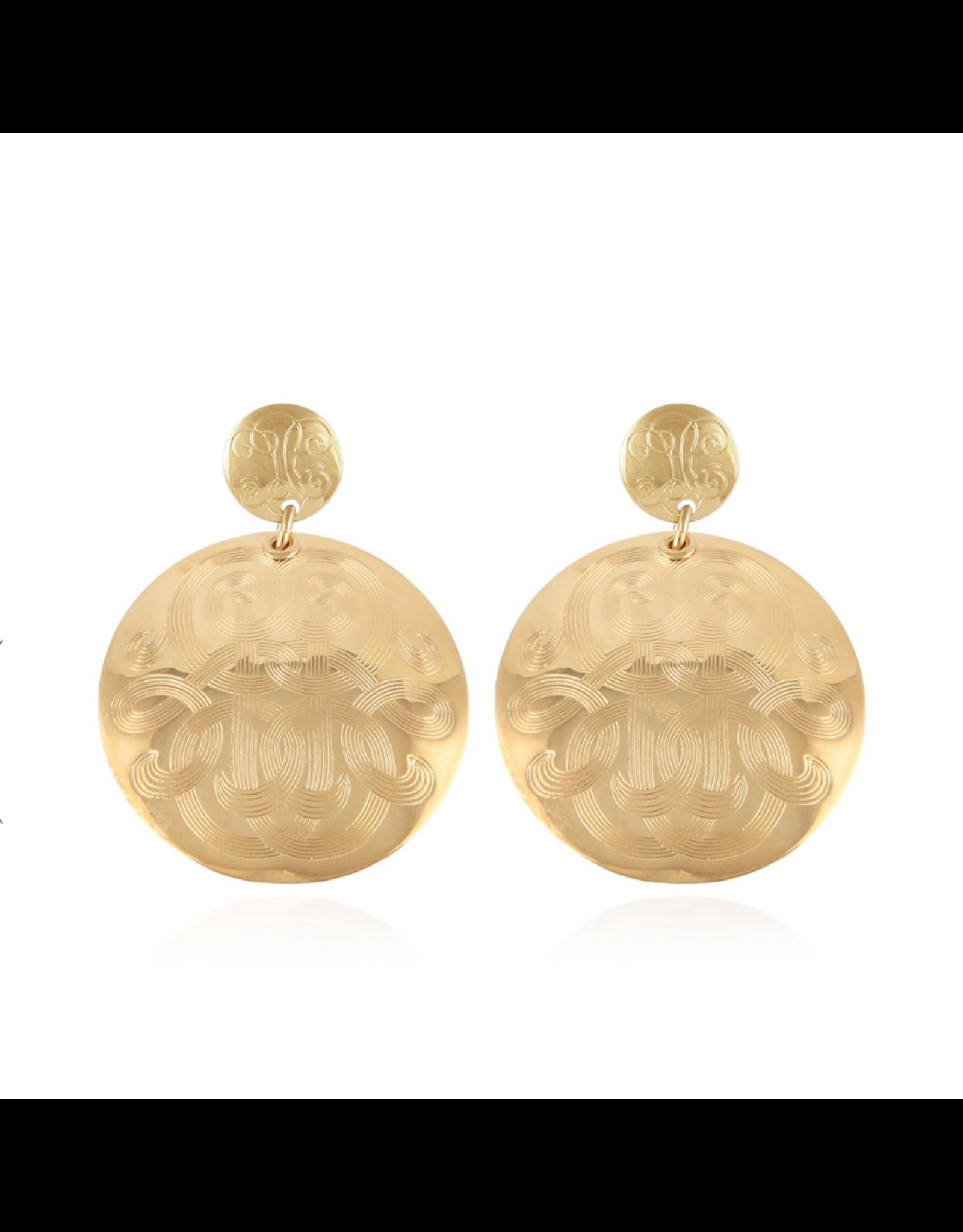 GAS Bijoux Earrings Diva Gold PLated