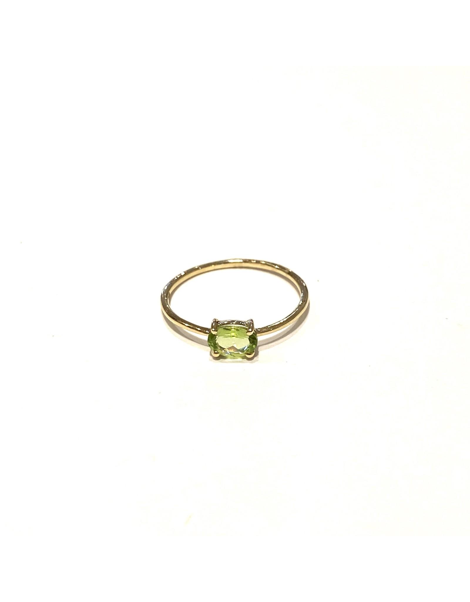 Bo Gold Ring - Goud - Peridot