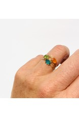 Bo Gold Ring - Gold - Green Onyx