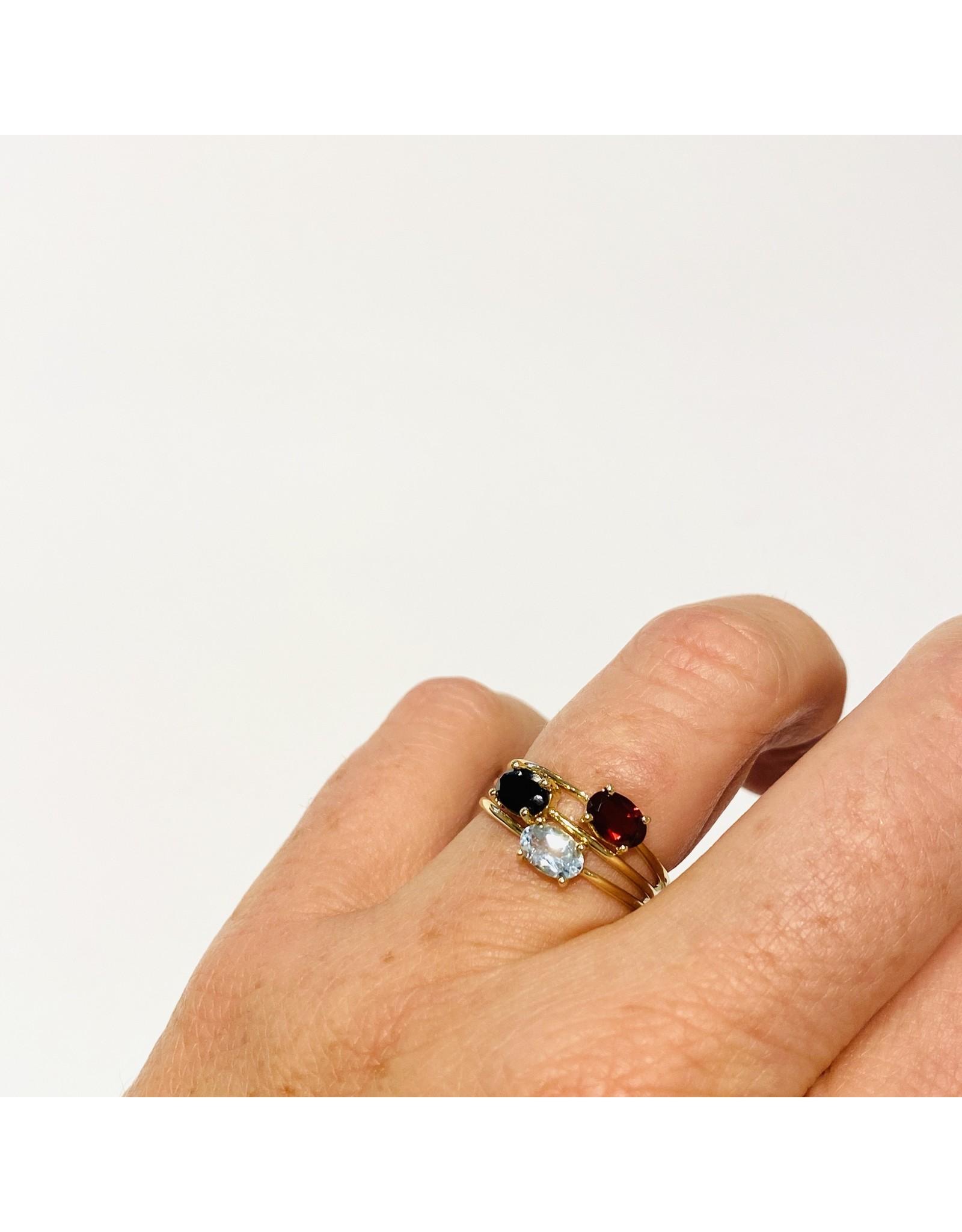 Bo Gold Ring - Goud - Granaat