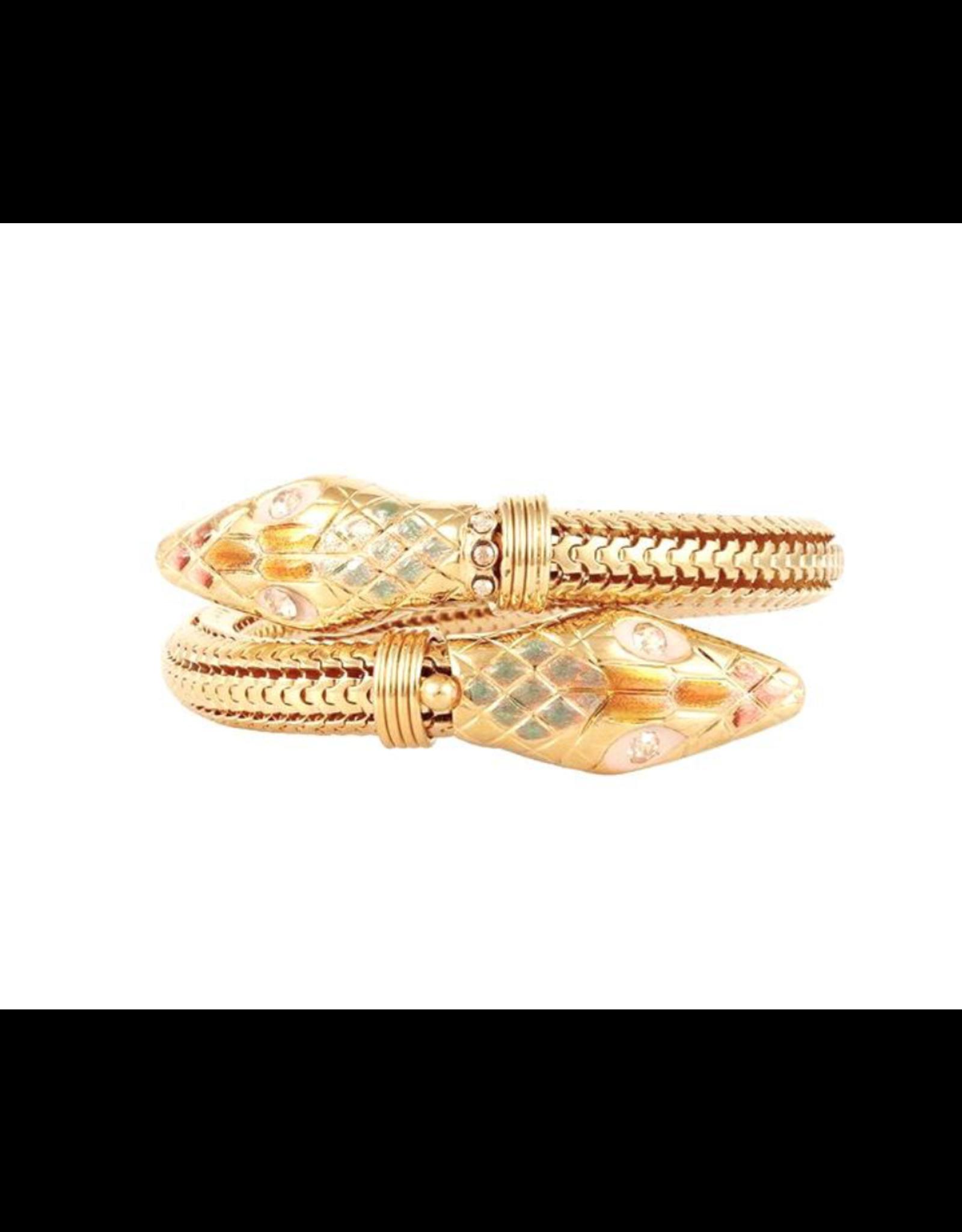 GAS Bijoux Bracelet Cobra Gold PLated