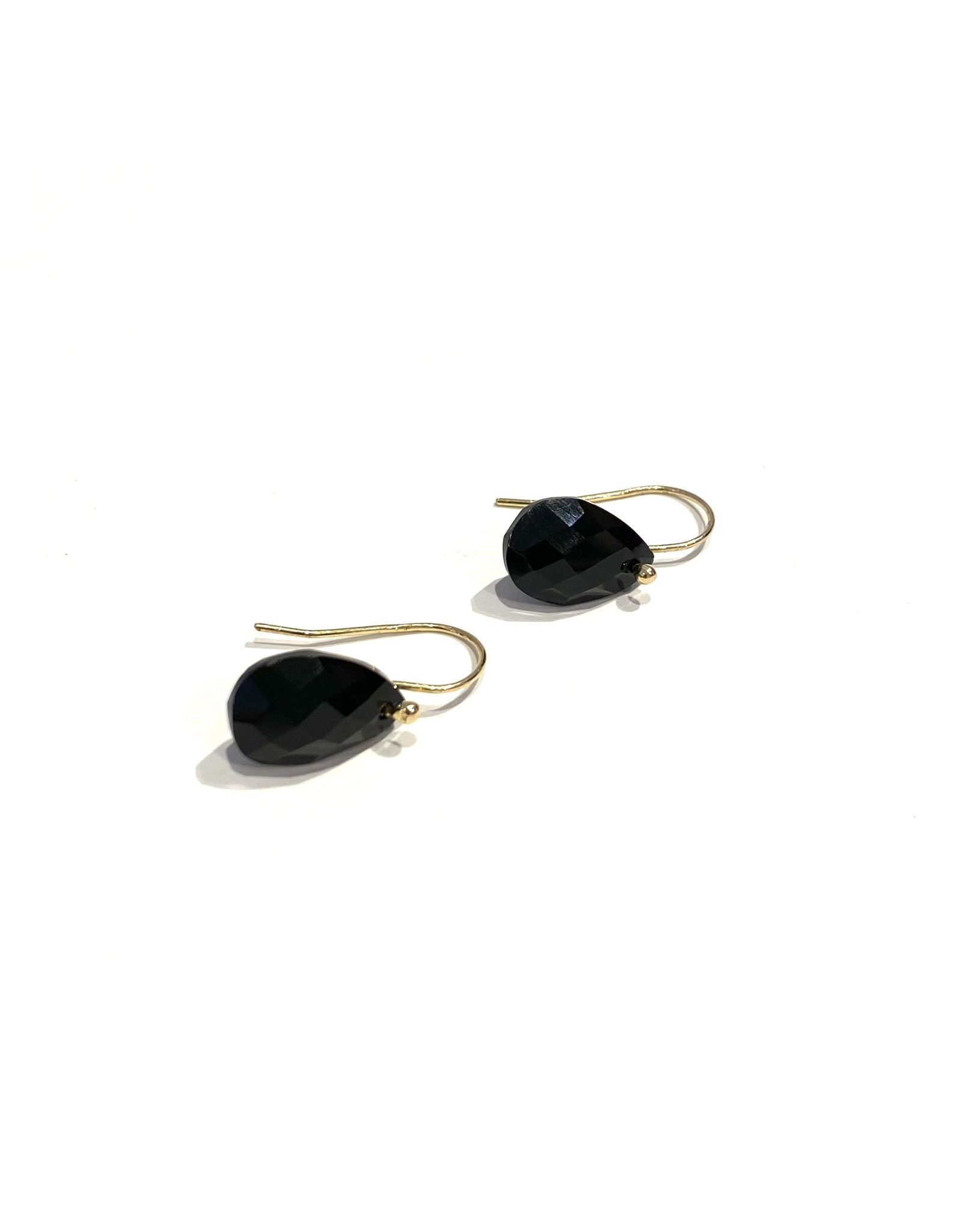 Bo Gold Earrings - Gold - Onyx