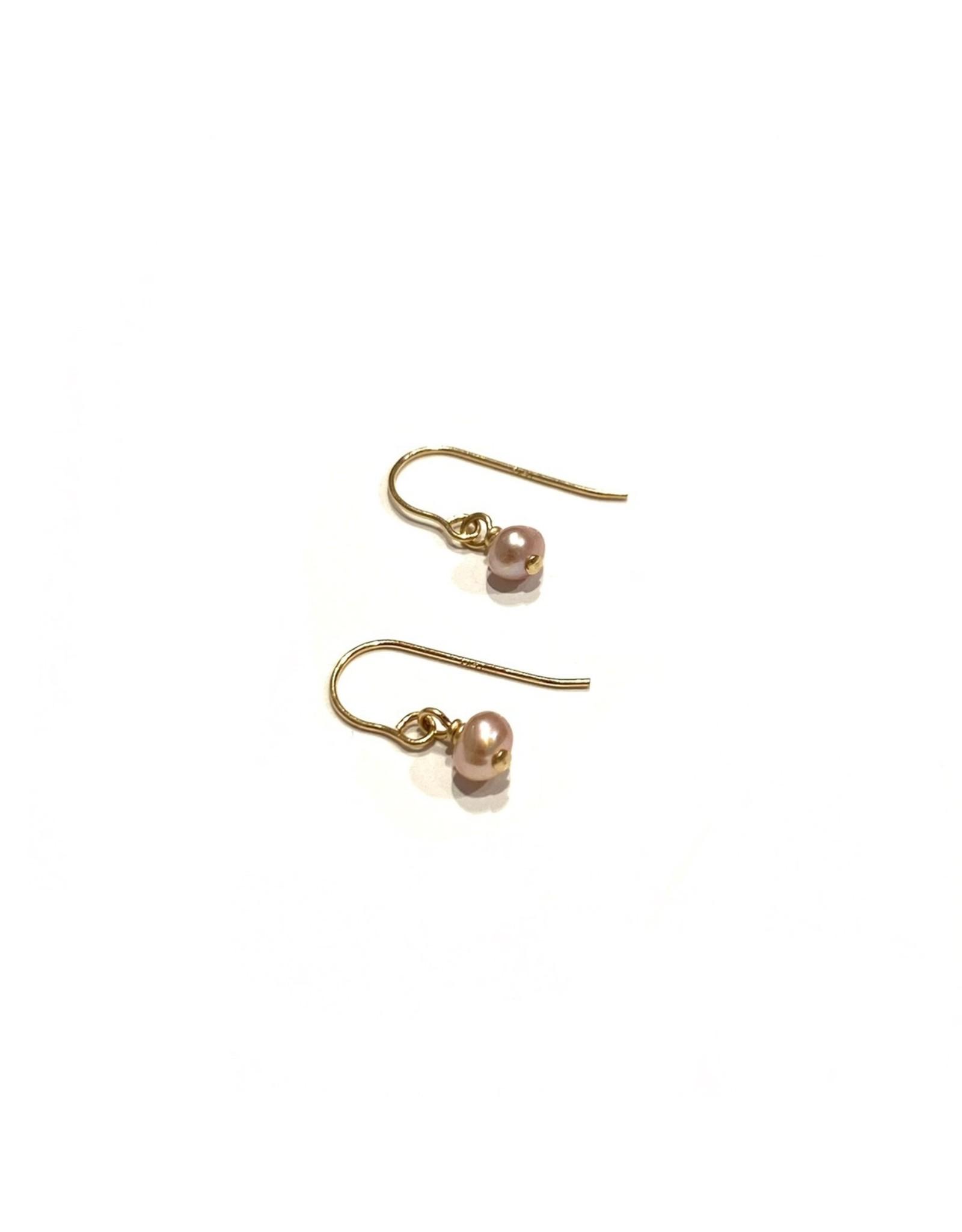 Bo Gold Earrings - Gold - Pearl