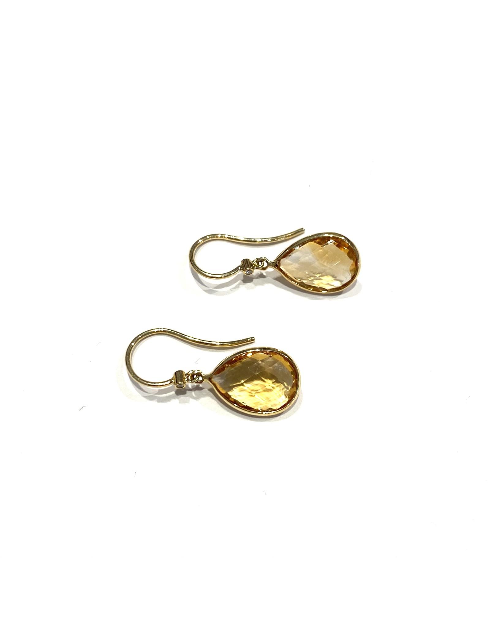 Navarro Earrings - Gold + Citrin