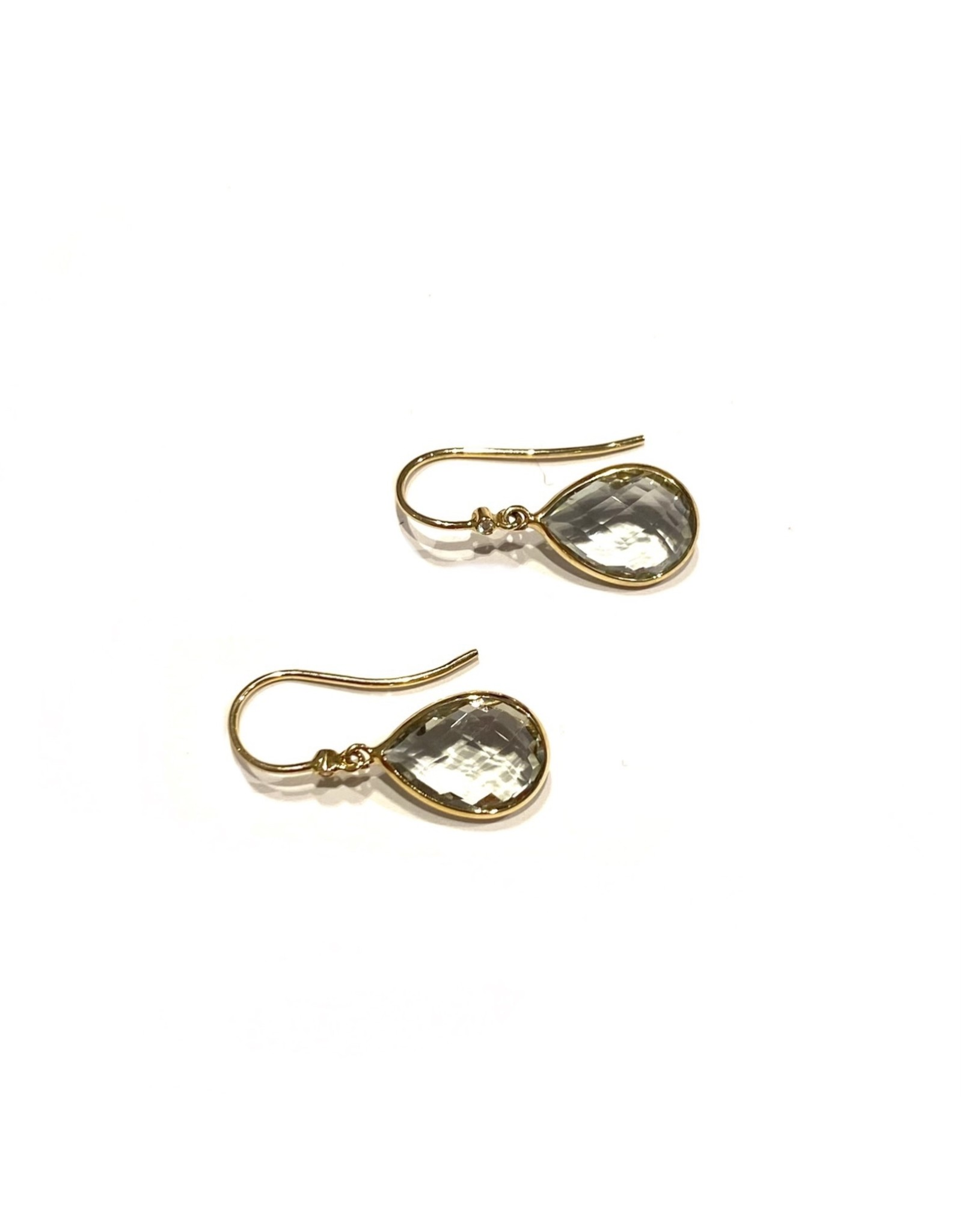 Navarro Earrings - Gold + Green Amethyst