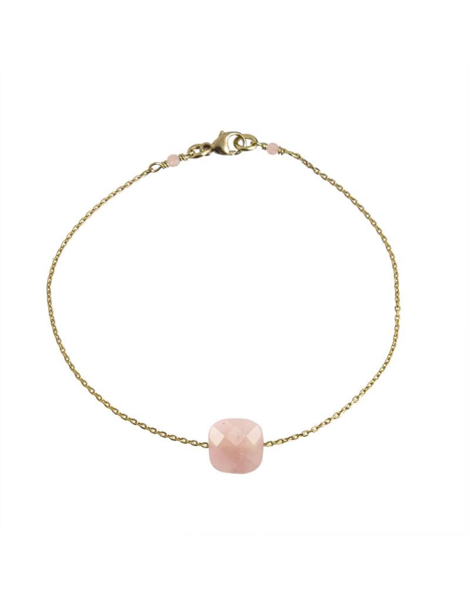 Bo Gold Bracelet - Gold - Gemstone