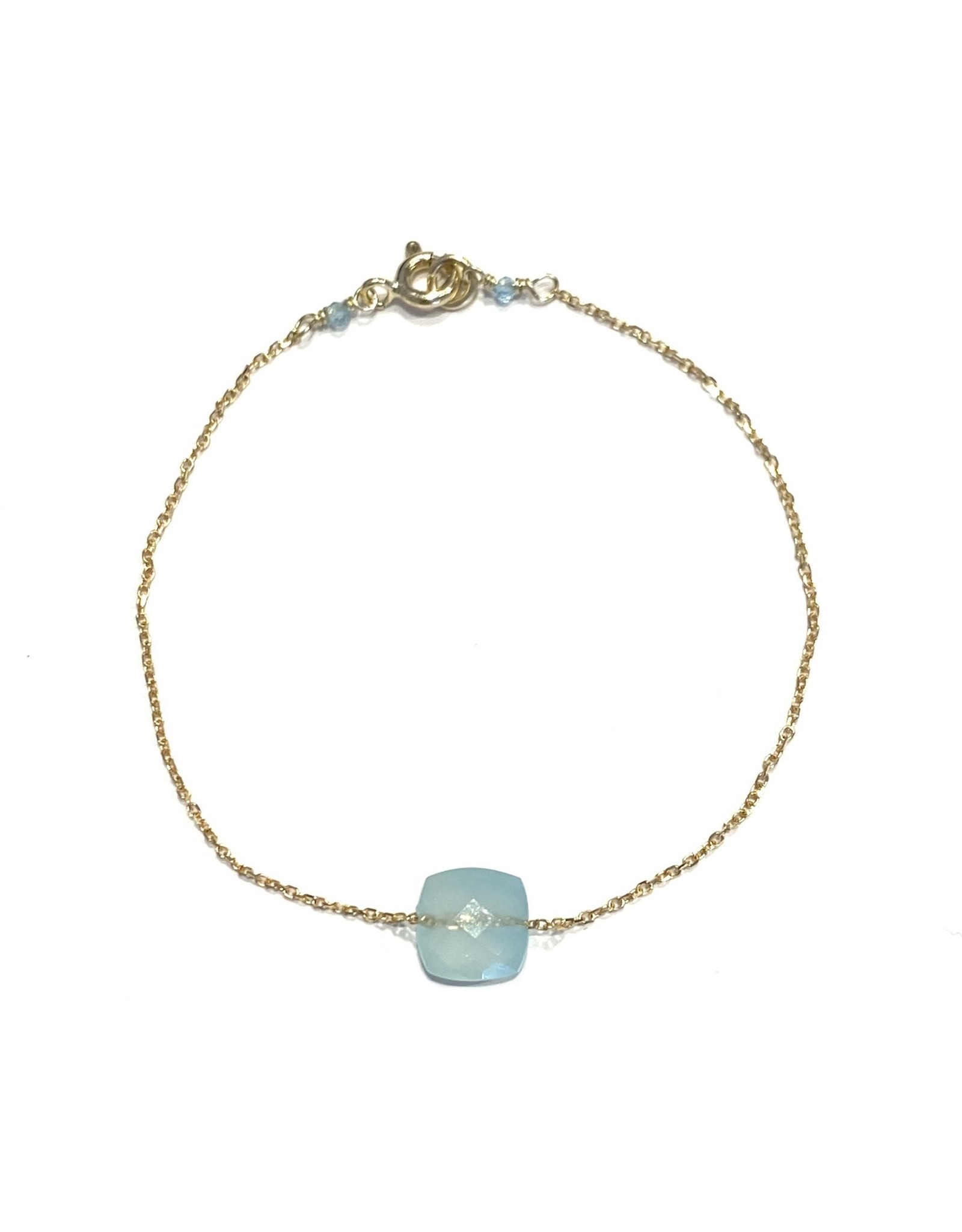 Bo Gold Armband - Goud - Edelsteen