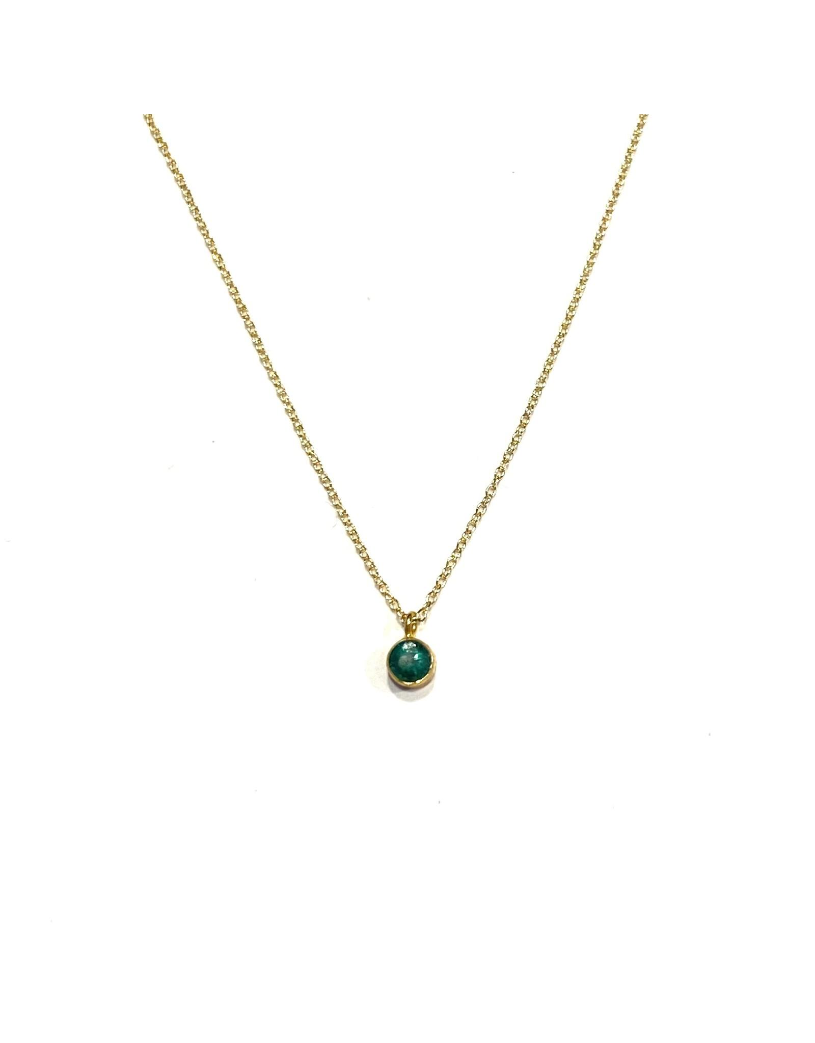 Bo Gold Necklace - Gold - Gemstone