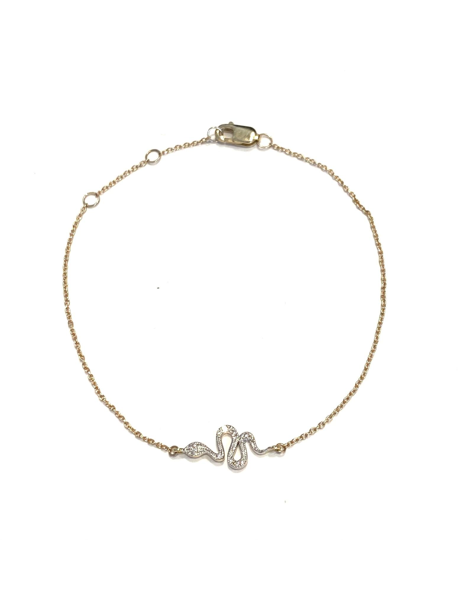 Bo Gold Bracelet - Gold - Diamonds