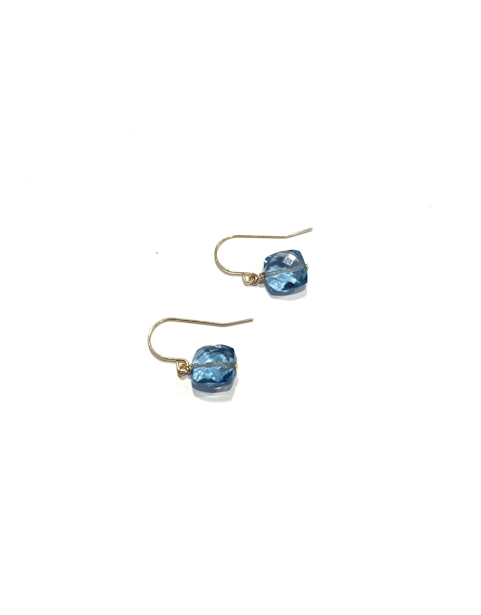 Bo Gold Earrings - Gold - Gemstones