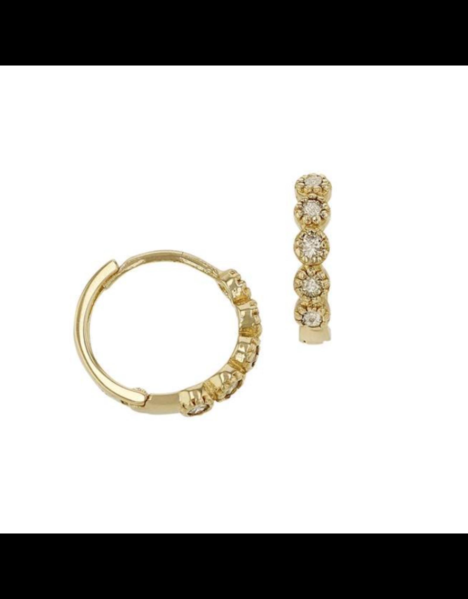 Bo Gold Earrings - Gold - Diamonds