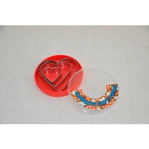 Koekvormen hartvorm 3 stuks