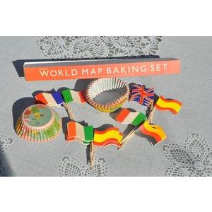 Cupcake bakvorm met vlaggetjes