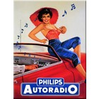 Cartexpo Metalen poster Philips autoradio 30 x 40 cm