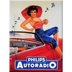 Cartexpo Metalen poster Philips autoradio 30 x 40 cm