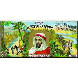 Cartexpo Metalen poster Savon des Explorateurs 17,50 x 45 cm
