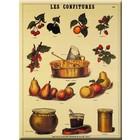 Cartexpo Metalen poster Le Confitures 30 x 40 cm