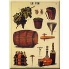 Cartexpo Metalen poster Le Vin 30 x 40 cm