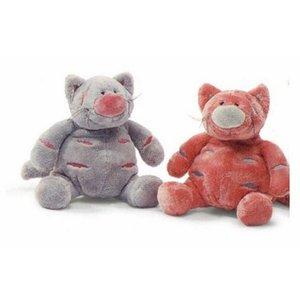 Anna Plush Roze en grijs kat