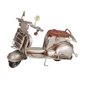 Clayre & Eef Scooter in zilver en bruin