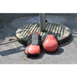 HB ruitersport Peesbeschermerset rood