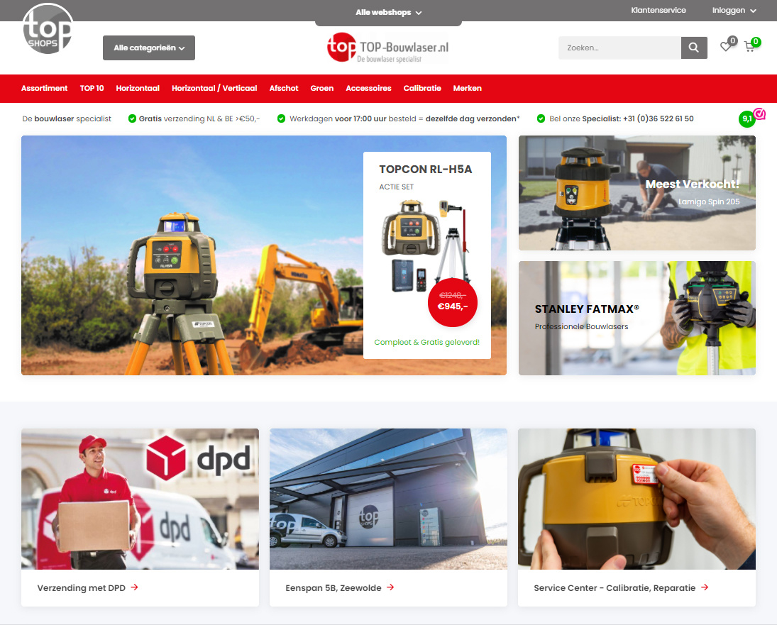 Webshops top-bouwlaser.nl