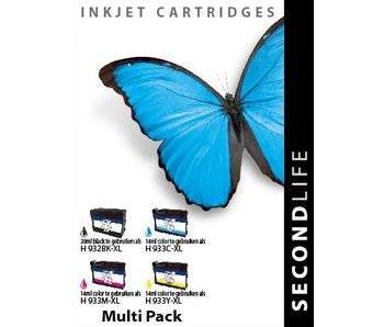 SecondLife Multipack HP 932 / 933 BK, C, M en Y