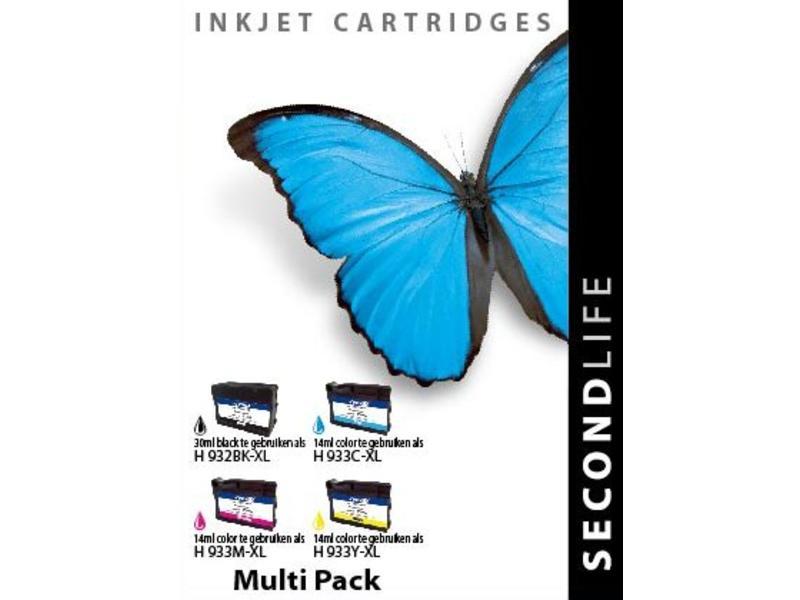 SecondLife Multipack HP 932 / 933 BK, C, M en Y