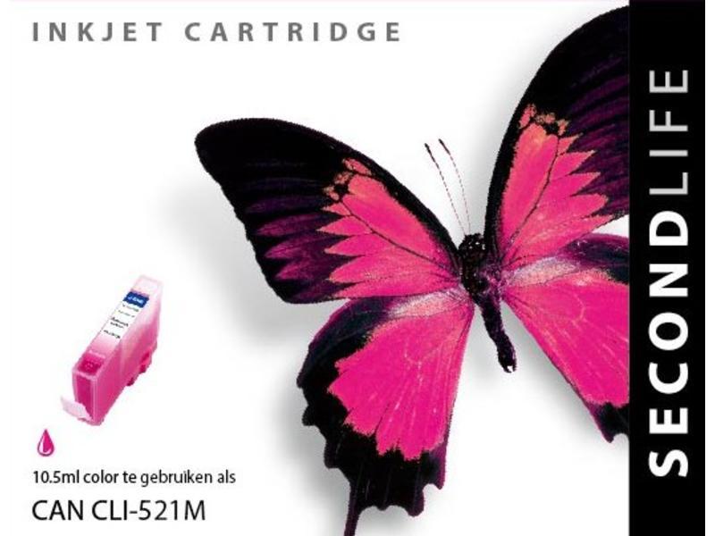 SecondLife Canon CLI 521 Magenta