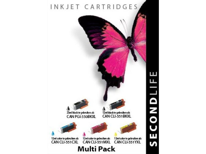 SecondLife Multipack Canon 550 Black & 551 Serie