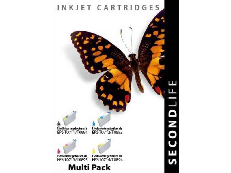 SecondLife Multipack Epson 711, 712, 713 en 714