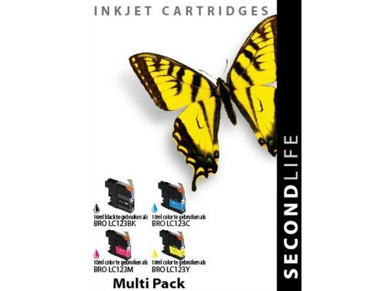 SecondLife Multipack Brother 123 BK, C, M en Y