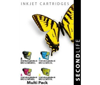 SecondLife Multipack Brother 985 BK, C, M en Y