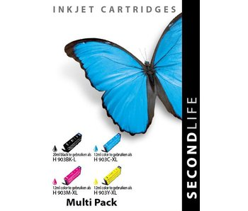 SecondLife SecondLife - Multipack HP 903 XL BK, C, M en Y