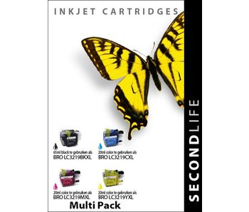 SecondLife SecondLife - Multipack Brother LC 3219 XL BK, C, M en Y