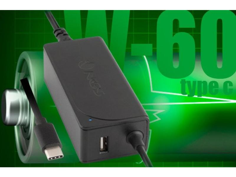 NGS  NGS 60W - Universele laptop / notebook adapter - 60w - Type C / TYPE-C - USB 5V/2A