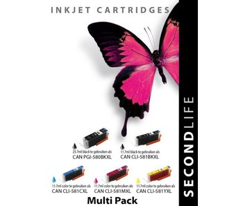 SecondLife SecondLife - Canon CLI 580 XL/581 Black Multipack