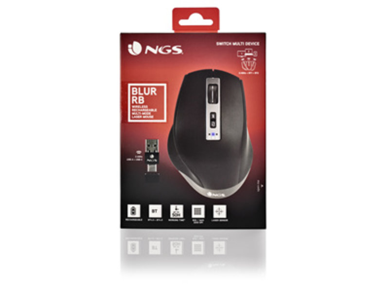 NGS NGS WIRELESS MULTIMODE MOUSE BLUR-RB