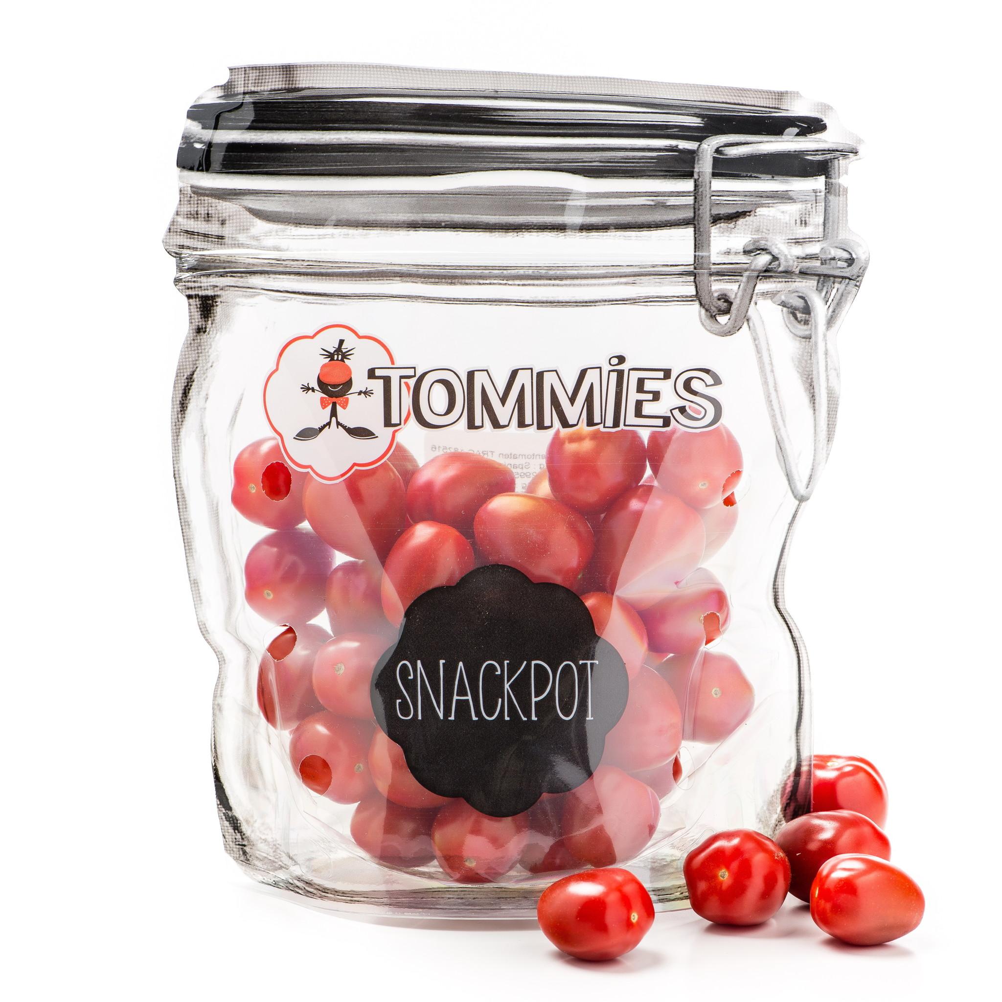 Tommies Snackpot zak rood