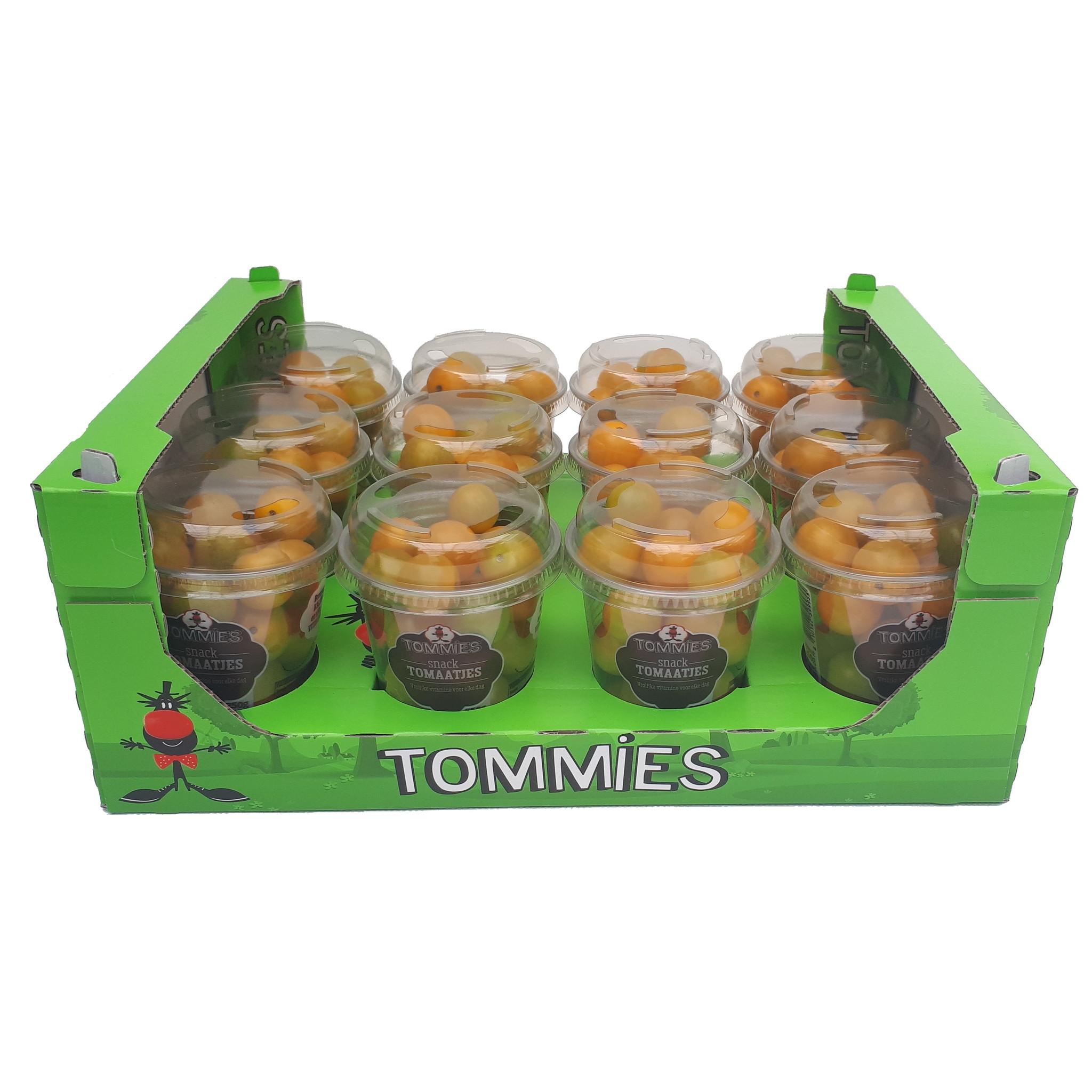 Tommies Snacktomaten geel12 bekers à 250 gr