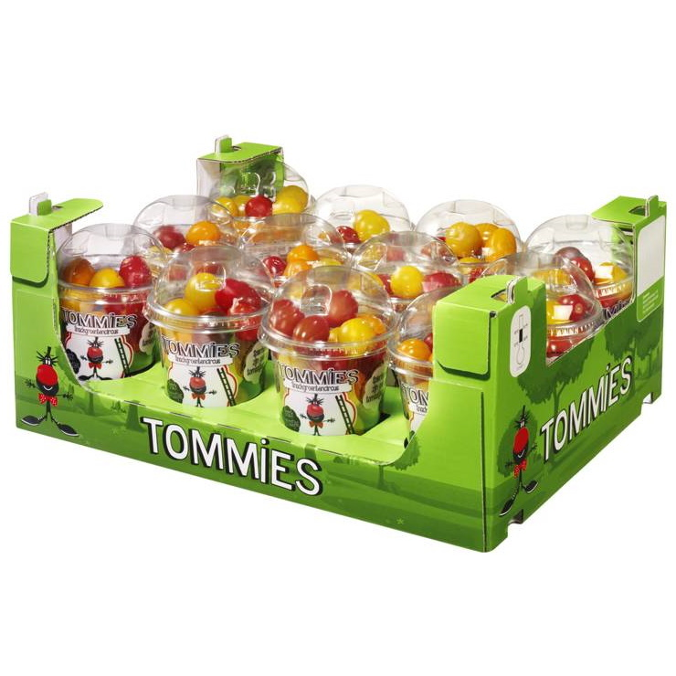 Tommies Snacktomaten mix 12 bekers à 250 gr