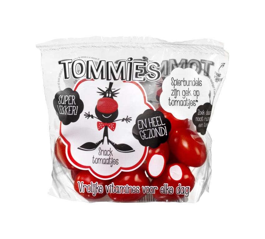 Tommies Snacktomaten rood 10 zakjes a 125 gram