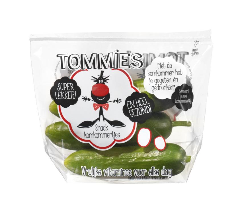 Tommies Snackkomkommers 10 zakjes a 3 stuks