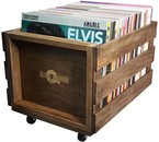VinylVinyl Vinyl LP Record  Crate =Wood ( for 100 LPs)=
