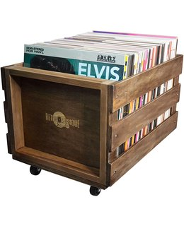 VinylVinyl Vinyl LP Record Wood Crate ( for 100 LPs)= with wheels=