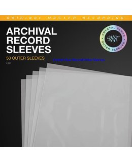 Mobile Fidelity Sound Lab = MOFI = Archival Clear Record Outer Sleeves (Pack of 50)=  Crystal Clear=new=