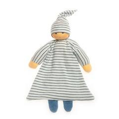 Nanchen Puppen Nanchen Puppenbett Hüpfer blue striped