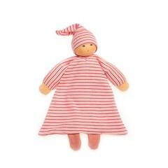 Nanchen Puppen Nanchen Puppen Betthüpfer rot geringelt