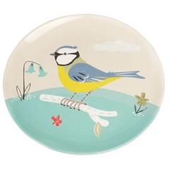 Rex International Rex Teller pastell mit Vogel Vintage